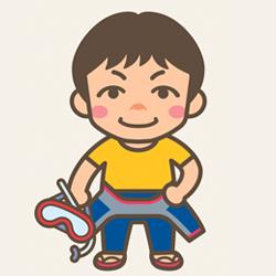 <店長>尾崎 哲一の似顔絵